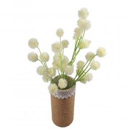 Dziki biały sztuczny czosnek w bukiecie / czosnek kwiat sztuczny