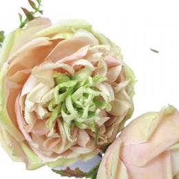 Sztuczna róża ekwadorska gałązka 95 cm / ekskluzywne kwiaty sztuczne