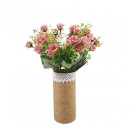 Bukiet sztucznych róż drobnych /  mały bukiet róż różowych