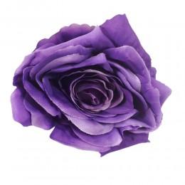 Fioletowa róża duża główka wyrobowa / sztuczne kwiaty róże główki