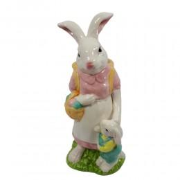 Figurka królik wielkanocny ozdoba ceramika h 30cm PANI KRÓLIK
