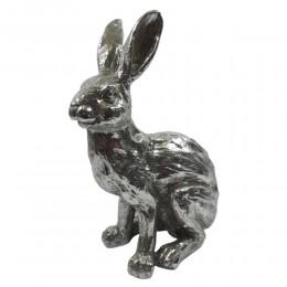 Zając wielkanocny figurka srebrna wys. 32cm / figurka królik glamour