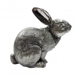 Figurka wielkanocna srebrny zajączek wielkanocny / królik figurka
