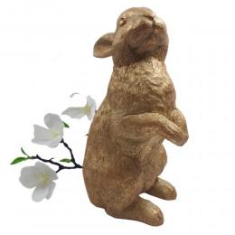 Złoty zając wielkanocny figurka wys. 25cm / zając figurka na Wielkanoc