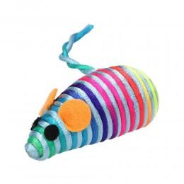 Mysz dla kota z kolorowego sznurka