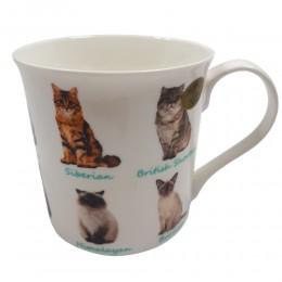 Ceramiczny kubek z kotami na prezent / kubek w koty / kubek koty
