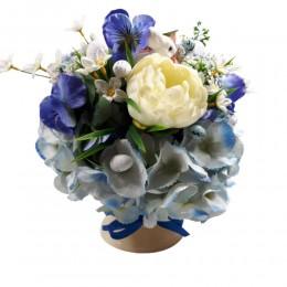 Kompozycja kwiatowa stroik / dekoracja wiosenna / wielkanocny stroik