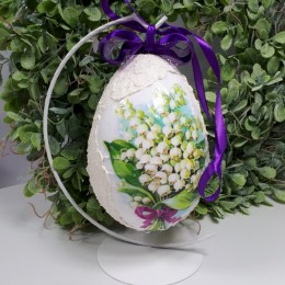 Pisanka jajko wielkanocne decoupage sprzedam motyw KONWALIA