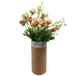 Bukiet sztucznych róż drobnych jasnoróżowych / mały bukiet róż