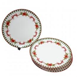 Zestaw komplet talerzy na Boże Narodzenie 4 szt. / talerze świąteczne