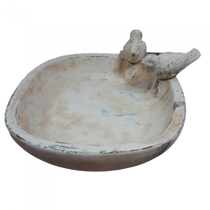 Duże gliniane poidełko dla ptaków do ogrodu / poidło dla ptaków