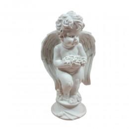 Figurka aniołka z winogronami h 16cm / figurka aniołka na prezent