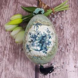 Dekoracja wielkanocna prezent jajko decoupage sprzedam NIEZAPOMINAJKA