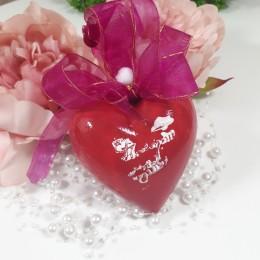 Plastikowa bombka serce ręcznie robione decoupage sprzedam