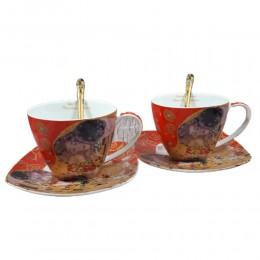Filiżanki do kawy herbaty dla dwojga GUSTAV KLIMT POCAŁUNEK