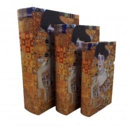 ADEL Gustaw Klimt szkatułka pudełko kasetka książka 3 szt. prezent