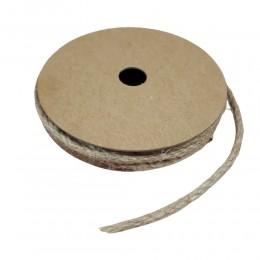 Sznurek jutowy ozdobny naturalny na szpulce 3mm/5m / sznurek ozdobny
