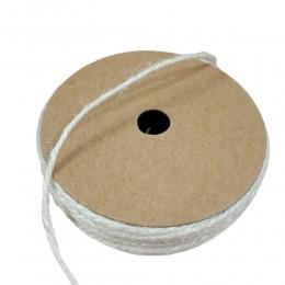 Biały sznurek jutowy ozdobny naturalny na szpulce 2mm/10m