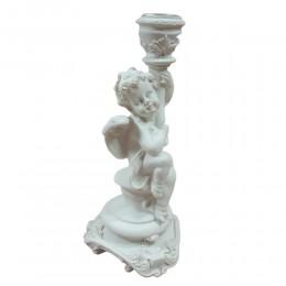 Świecznik anioł / anioł świecznik na 1 świeczkę h 18,5cm