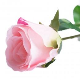Róża sztuczna różowa gałązka 55cm / sztuczna róża jak prawdziwa