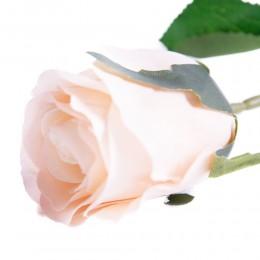 Sztuczne róże pojedyncze morelowe 55cm / sztuczna róża jak prawdziwa