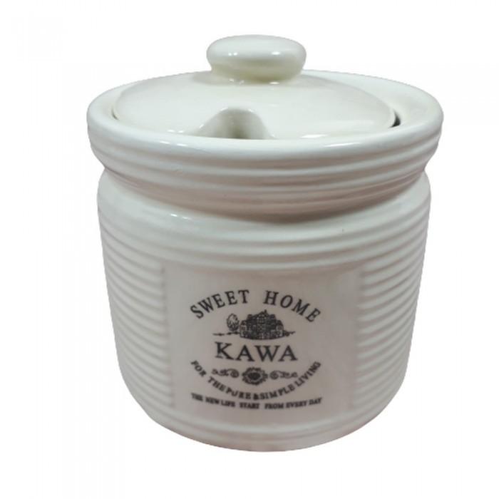 Ceramiczny pojemnik na kawę SWEET HOME w paseczki 350ml