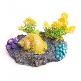 Kolorowa dekoracja do akwarium