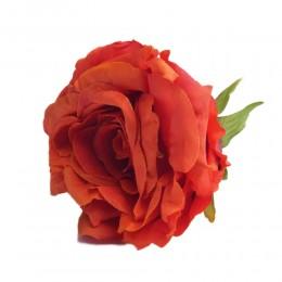 Róża główka wyrobowa krwisto-czerwona 10cm / sztuczne róże główki