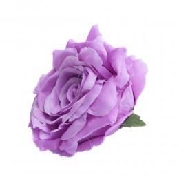 Róża główka wyrobowa jasno-fioletowa / sztuczne róże główki wyrobowe