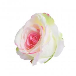 Sztuczne róże główki kwiatowe z ciemnym środkiem 7cm / róża główka