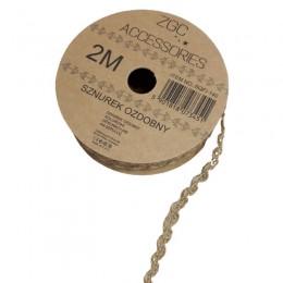 Pleciony sznurek ozdobny jutowy 2M / sznurek dekoracyjny decoupage