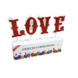 Świeczki pikery na tort LOVE / pikery dekoracja na Walentynki