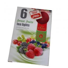 Podgrzewacze TEALIGHT świeczki zapachowe FOREST FRUITS 6 szt