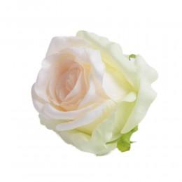Sztuczne róże główki kwiatowe dwukolorowe 7cm / róża główka wyrobowa