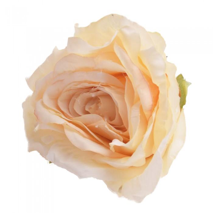 Róża główka wyrobowa jasnobrązowa / sztuczne róże główki wyrobowe