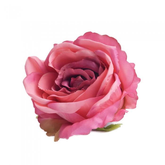 Sztuczne róże główki kwiatowe różowe 7cm / róża główka wyrobowa