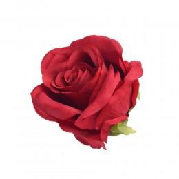 Sztuczne róże główki kwiatowe czerwone 7cm / róża główka wyrobowa