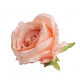 Sztuczne róże główki kwiatowe morelowe 7cm / róża główka wyrobowa