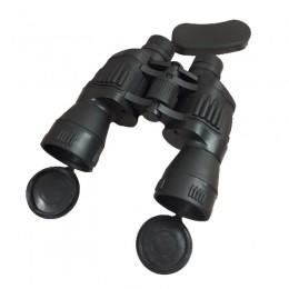 Duża czarna lornetka z pokrowcem dla dziecka na prezent do obserwacji