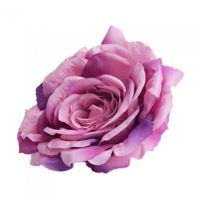 Róża główka wyrobowa fioletowa / sztuczne róże główki wyrobowe