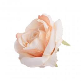 Róża główka wyrobowa jasno-pomarańczowa / sztuczne róże główki