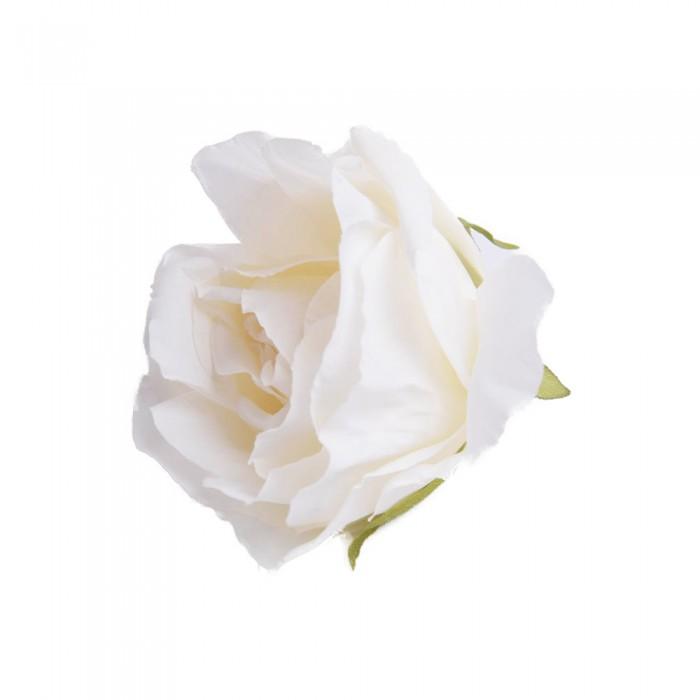 Róża główka wyrobowa jasnożółta / sztuczne róże główki wyrobowe