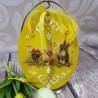Duże jajo jajko wielkanocne zawieszka ozdoba wykonana metodą decoupage