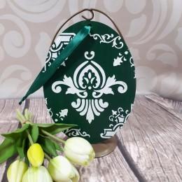 Duże zielone jajo jajko wielkanocne zawieszka decoupage sprzedam