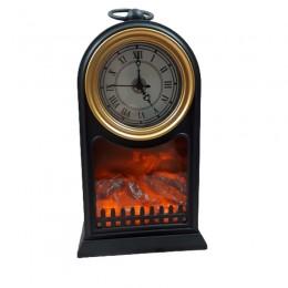 Kominek LED z zegarem / kominek lampion z ogniem ruchomy płomień