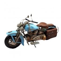 Replika starego motocyklu / niebieski MOTOR MOTOCYKL replika retro
