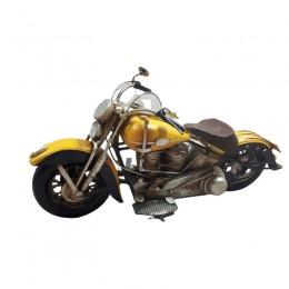 Dekoracja replika motocykla / żółty MOTOR MOTOCYKL replika retro