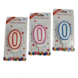 Świeczka urodzinowa cyferka zero 0 / świeczki urodzinowe cyferki