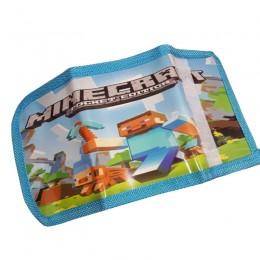 Portfel portfelik dla dziecka fana gry minecraft zapiany na rzep
