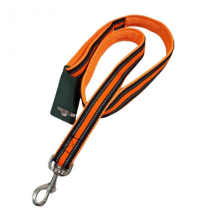 Odblaskowa smycz dla psa pomarańczowa dł. 118 cm